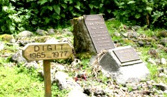 Graves of Dian Fossey and Digit