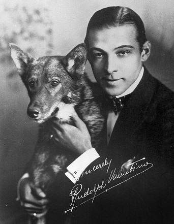 Rudolph Valentino and his dog.