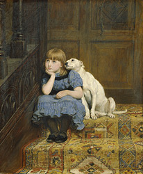 Briton Riviere, Sympathy. 1877. oil on canvas. Royal Holloway Collection.