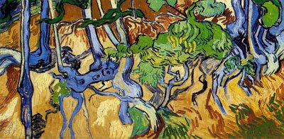 Vincent van Gogh, Tree Roots. July 1890. Oil on canvas, 50.3 cm x 100.1 cm. Van Gogh Museum, Amsterdam (Vincent van Gogh Foundation).