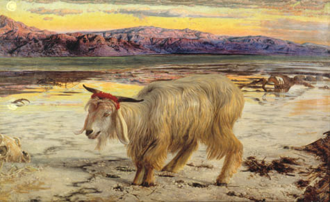 William Holman Hunt, The Scapegoat. 1854-6. oil on canvas. 86 x 140 cm. Lady Lever Art Gallery, UK.