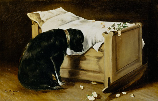James Archer, A Dog Mourning Its Little Master.