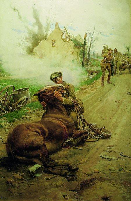 Fortunino Matania. Goodbye Old Man. 1916.