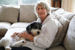 Mary Oliver with Ricky © nytimes.com