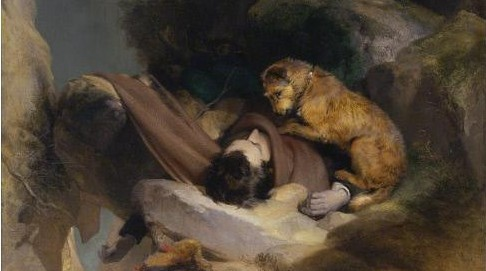 Sir Edwin Henry Landseer, Attachment.  1829. Oil on canvas. 39 7/8 x 32 7/8 in. Saint Louis Art Museum.
