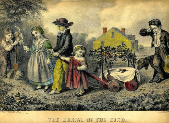 The Burial Of The Bird-Currier-Ives